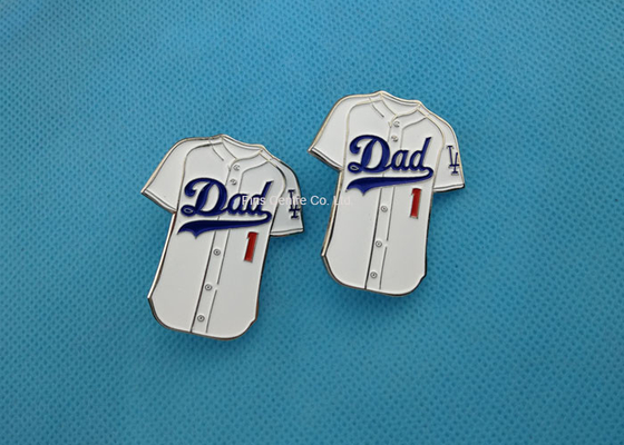 China Cute Custom Soft Enamel Pin With Iron , Football T - Shirt Badge Pins factory