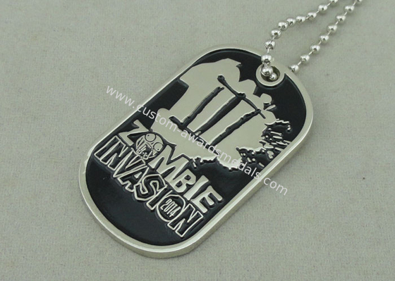 China Nickel Double Side Police Personalised Dog Tags Die Stamped Soft Enamel distributor